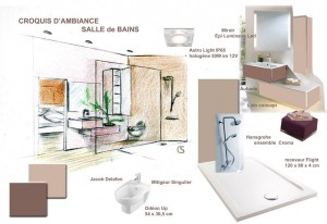 Croquis de salle de bains AIM DecoDesign